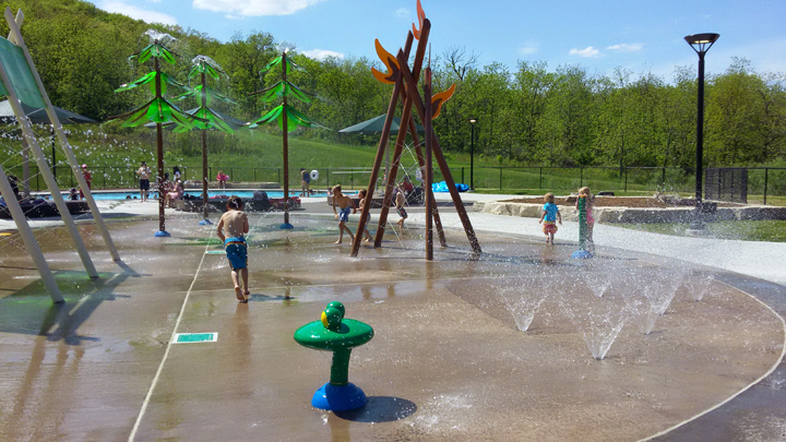 The recently renovated pool and new splash pad at Blue Mound State Park are one of many opportunities for people to
