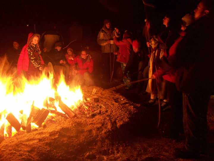Many events also feature bonfires, like this one at Blue Mound. - Photo Credit: DNR by Joe Warren