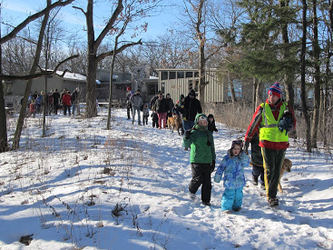 There was a good turnout for the First Day Hike at the Lapham Peak Unit of the Kettle Moraine State Forest in 2016. - Photo credit: Dave O'Brien