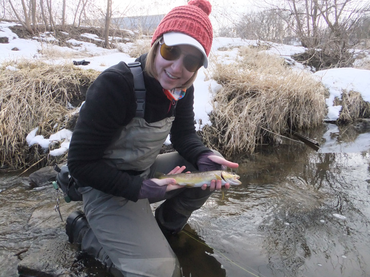 Beat cabin fever by fishing the early catch-and-release trout season, which opens Jan. 6, 2018, on hundreds of waters across the state.  - Photo credit: Eliza Woulf